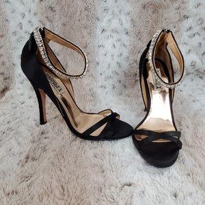 Black Satin Badgley Mischka Heels
